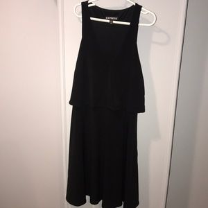 Express black tank top dress